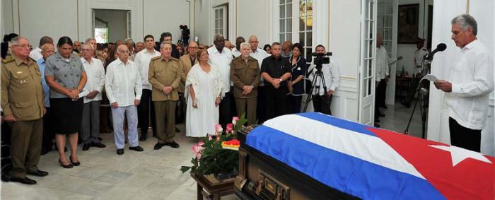 Raul Castro a assisté à l'hommage funèbre d'Armando Hart