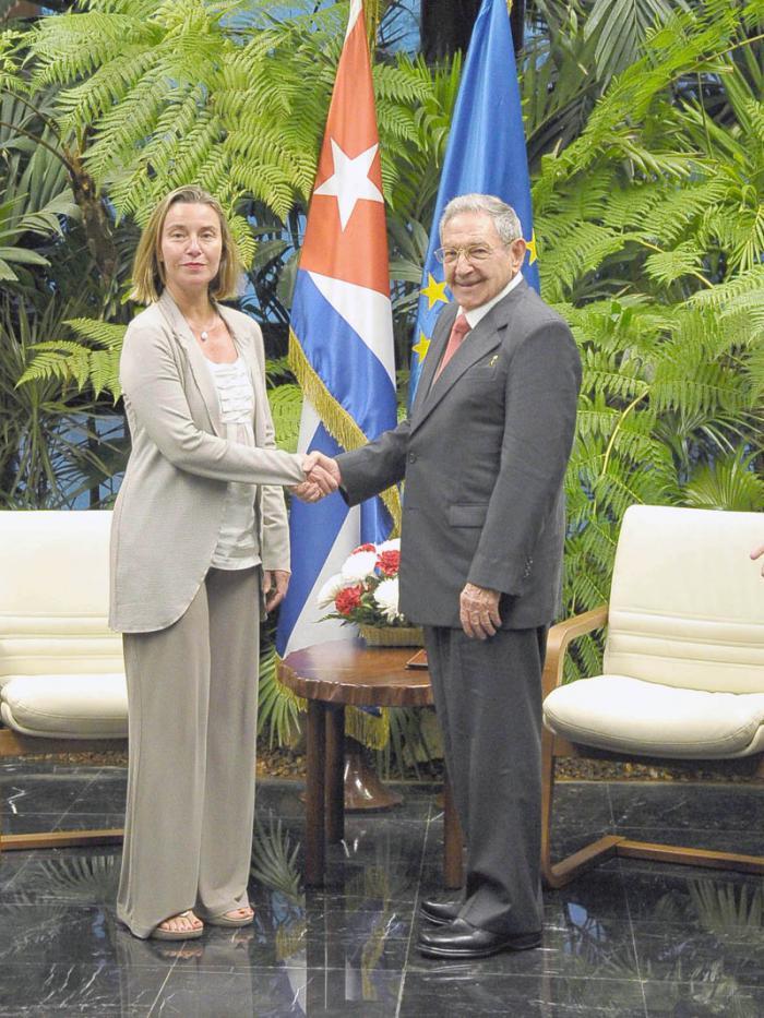 Raul Castro a reçu la Haute représentante de l'Union européenne pour les Affaires étrangères et la Politique de sécurité