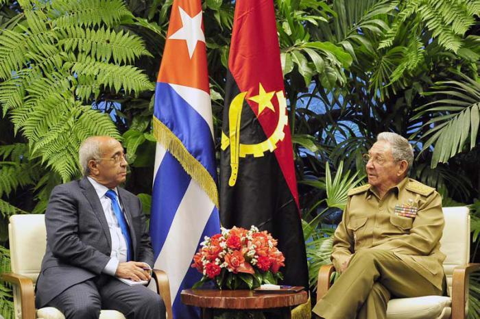 Raul a reçu le ministre angolais de la Défense