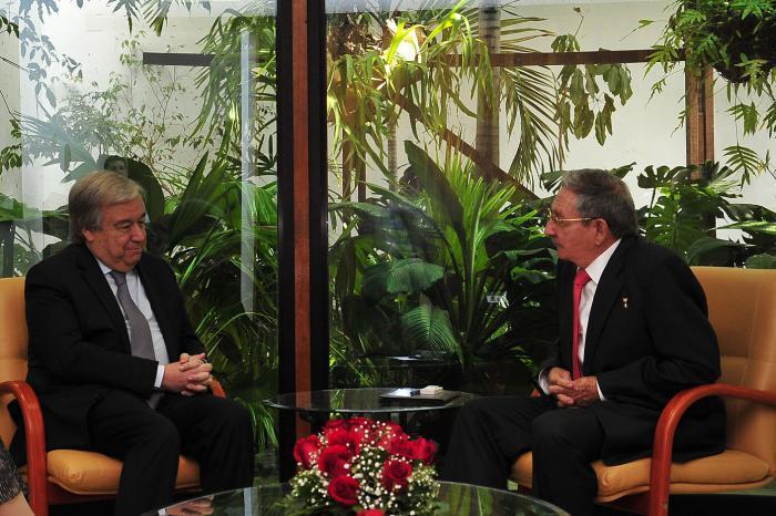 Raul s'est entretenu avec le Secrétaire général de l'ONU