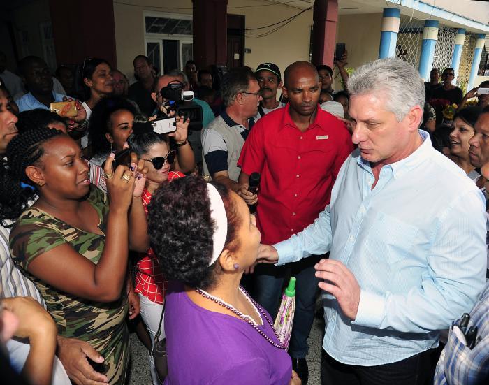 Diaz-Canel a insisté sur la durabilité des travaux de réhabilitation dans la capitale cubaine